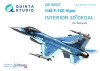Quinta QD48037 1/48 F-16С 3D-Printed & coloured interior for Tamiya kit