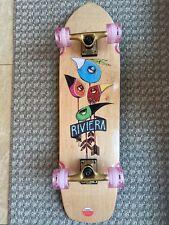Riviera Complete Skateboard Cruiser 32.5 X 8.75� Gold Speed Trucks Clear Pink