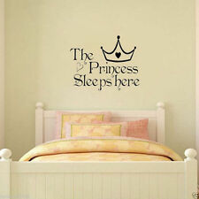 Baby Girls Princess Removable Wall Sticker Nursery Room Decor Decal Art Mural