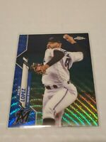 2020 Pablo Lopez Topps Chrome Blue Refractor #152  37/75 pwe Marlins