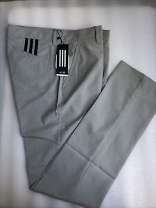 Adidas Men's 3 Stripe Golf Pants Gray Size 30/34 New With Tags