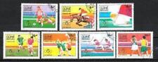 JO été Guinée Bissau (14) série complète de 7 timbres oblitérés