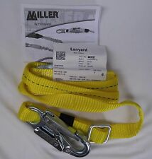 New Miller 210WLS/6FTYL 6ft Adjustable Web Lanyard w/ Locking Snap Hooks