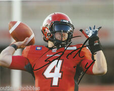 Calgary Stampeders Drew Tate Signed Autographed 8x10 CFL Photo COA D