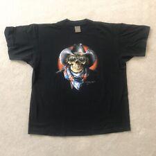 New listing Harley Davidson 3D Emblem Rebel Skeleton Cowboy T-Shirt Xl Bike Week 1994