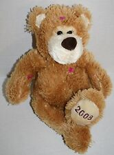 "Mary Meyer TEDDY BEAR 14"" 2008 No Hat Mittens Scarf Stuffed Brown Plush Soft Toy"