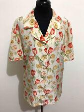 Luisa Spagnoli Vintage '80 Women's Shirt Flowered Flower Woman Shirt Sz. L - 46
