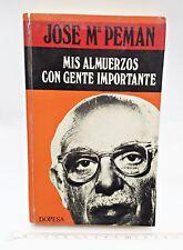 Libro de Jose Mº Peman. Mis almuerzos con gente importante