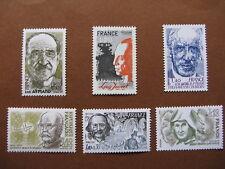 FRANCE neufs  n° 2148 à 2153  CELEBRITES AVEC SURTAXES