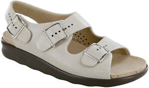 SAS Relaxed Sandal Web Linen 9 Wide, Women's Shoes