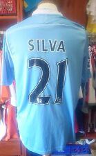 Camiseta Manchester City Nº21 SILVA 2011-2012 Umbro Shirt Maglia