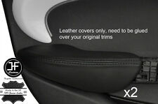 Puntada Negro 2X Fundas de puerta trasera de reposabrazos cuero adapta BMW Mini Cooper 14-17 F55