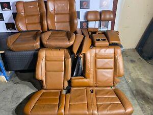 JEEP GRAND CHEROKEE SRT 2014-2019 OEM SET BROWN LEATHER ARMREST SEAT COVERS 60K