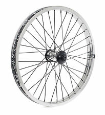 SHADOW CONSPIRACY SYMBOL FRONT WHEEL INCLUDES 2 HUB GUARDS BMX BIKE SILVER NEW