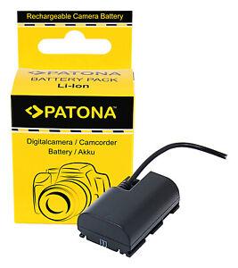 LP-E6N Akku-Adapter Dummy Batterie Coupler D-TAP Input für Canon LP-E6, LP-E6NH