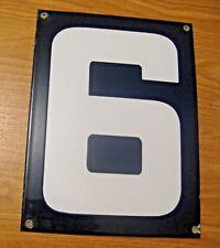ORIGINAL PORCELAIN HOME STREET ADDRESS / GAS STATION NUMBER 6 or 9 SIGN ~  LOT C