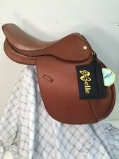 """Exselle Tan Jumping Saddle Chasseur 17 1/2"""" Wide Tree Walsall Royal Co.New"""