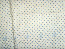 Vintage blue polka dots single standard size pillowcase farmhouse chic dainty