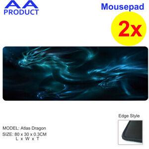 2x Extra LargeMousepad Keyboard Pad Mouse Mat Game Laptop Computer Atlas Dragon
