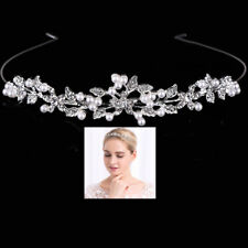 Princess Bridal Wedding Party Headband Crystal Rhinestone Pearl Tiara Crown UK