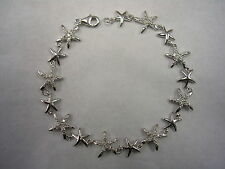 STARFISH BRACELET WITH CUBIC ZIRCONIA IN STERLING SILVER