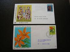 LIECHTENSTEIN - 2 enveloppes 1969 1970 (cy16)