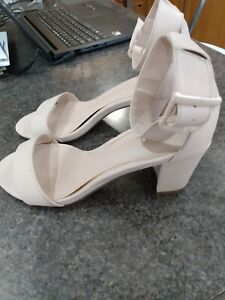 NEXT nude block heel sandals with enclosed heel Size 5UK 38EU