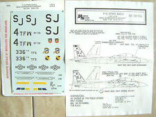 """F-15E STRIKE EAGLE """"2USAF/WING COMMANDER'S"""" REPLISCALE DECALS 1/32"""