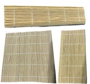 Sushi Rolling Mat Bamboo Mat Sushi Making Kit Home Roll Maker Set 24cm X 24cm