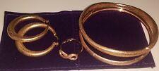 Charles Garnier Argento Sterling 18k ROSE INFINITY RING Bracciali Orecchini Set