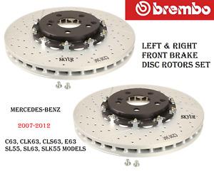 Mercedes Front Brake Disc Rotors Set Of 2 For C63,CLK63,CLS63,E63,SL63,SLK55 BRM