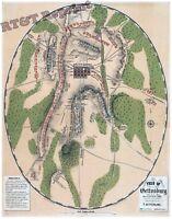 Wall Art  Photograph Civil War of the Gettysburg Battle Map July 1863  11x14