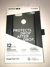 Tech21 EvoCheck Ultra Thin Phone Case for Google Pixel 3 XL - Smoke Black - NIB