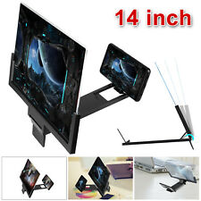 14inch Hd Cell Phone Screen Magnifier 3D Video Amplifier Stand Bracket Universal