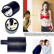 Listening Device Spy Bug Sound Amplifier Hearing Wall Gadget Surveillance NEW