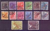Berlin 1949 - Rotaufdruck - MiNr.21/34 gestempelt geprüft- Michel 900,00 € (868)