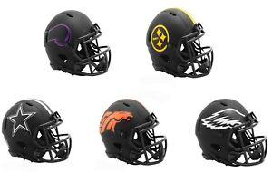 Black Eclipse Revolution Speed Mini Football Helmet - NFL * Pick Your Team *