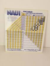 Vintage 1985 NAUI dive table- waterproof