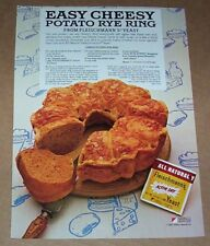 1983 print ad - Fleischmann's Yeast Cheese Potato Rye Ring Bread recipe Advert