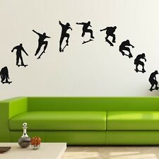 9 Skateboard boys Wall stickers Nursery Decal Removable Mural Deco Vinyl Kids Au