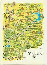 Alte topografische Postkarte Vogtland IV 1982