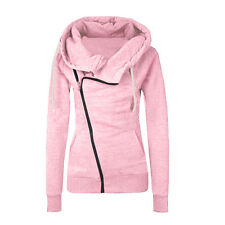 Womens Zipper Slim Fit Casual Jacket Coat Hoodies Hoody Sweatshirts Pullover Top