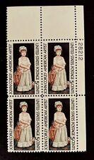 US Stamps, Scott #1273 5c 1965 Plate Block of John S. Copley XF M/NH