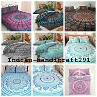 Mandala Indian Duvet Doona Cover Throw Boho Quilt Cover Bohemian Bedding Queen