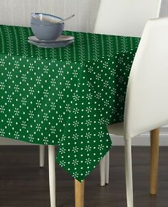 Green Snowflakes & Dots Tablecloths - Assorted Sizes!