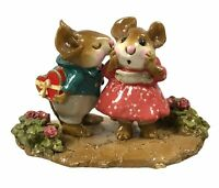 Wee Forest Folk M-192 First Kiss! with Cobblestone & Flowers Base ONE YEAR ISSUE
