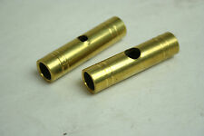 "Hatfield Rifle Works Brass THIMBLES 1/2""x2"" with a 3/8"" Hole SET of 2"