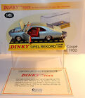 DINKY TOYS ATLAS OPEL REKORD COUPE 1900 BLEU CLAIR METAL 1/43 REF 1405 IN BOX