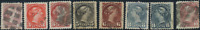 Canada #40-45 used F/VF 1870-1897 Queen Victoria Small Queen Part Set  CV$180.50