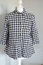 TOPSHOP Maternity black check casual shirt 12